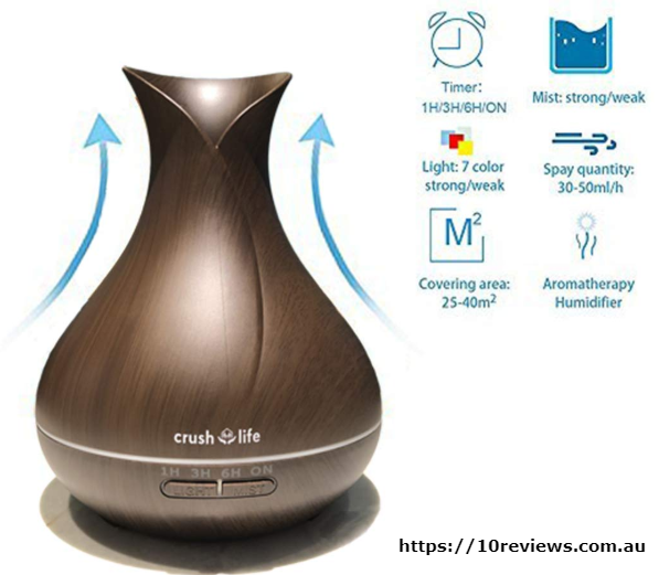 Crush ON Life Oil Diffuser, 550ml Remote Control Essential Oil Diffuser Top Rated All Purpose