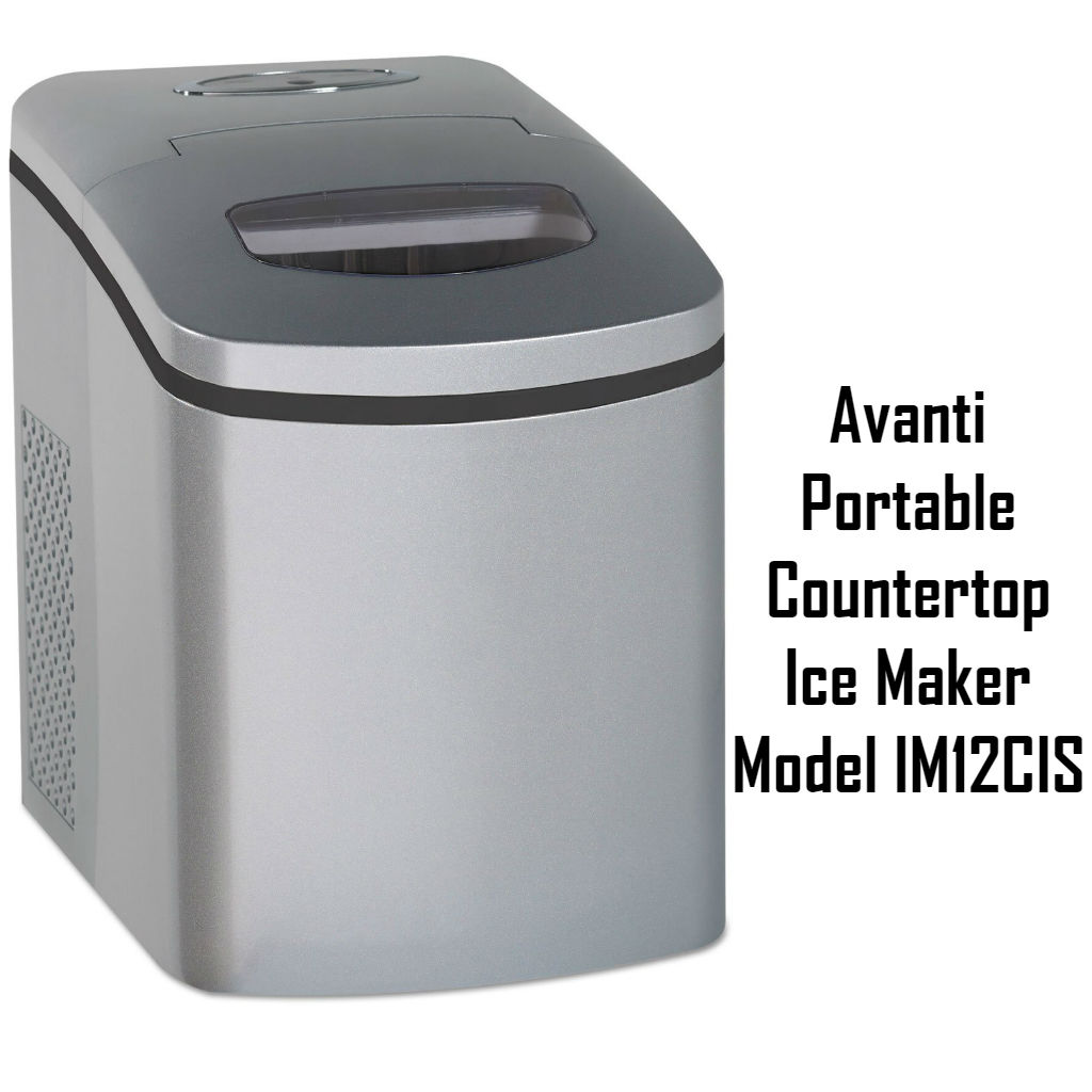 Avanti Portable Countertop Ice Maker Model IM12CIS