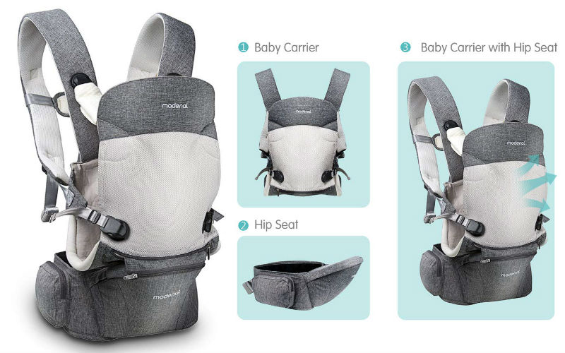 Ergonomic Baby Carrier with Hip Seat, [7 Positions for All Seasons], [for 3-36 Months Baby] Can Be Used For Infants And Toddlers
