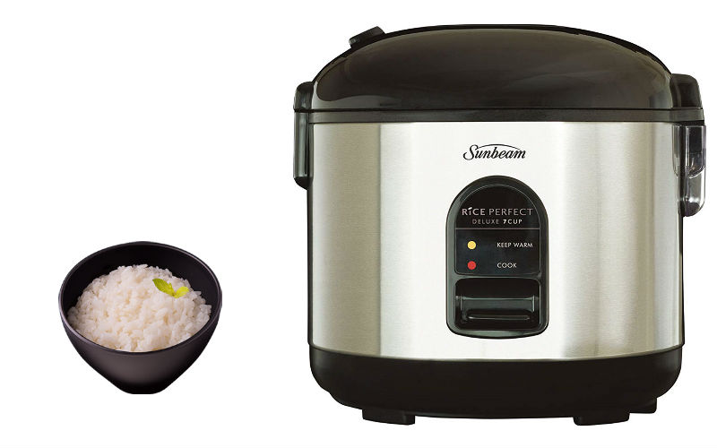 Sunbeam Rice Perfect Cooker Stainless Steel Compact Rice Cooker