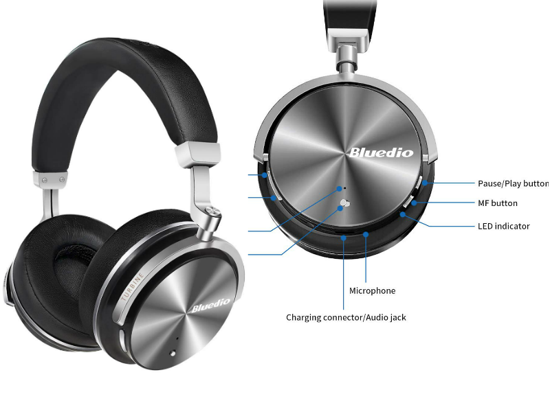 Bluedio T4S Most Affordable Wireless Headphones Under 100