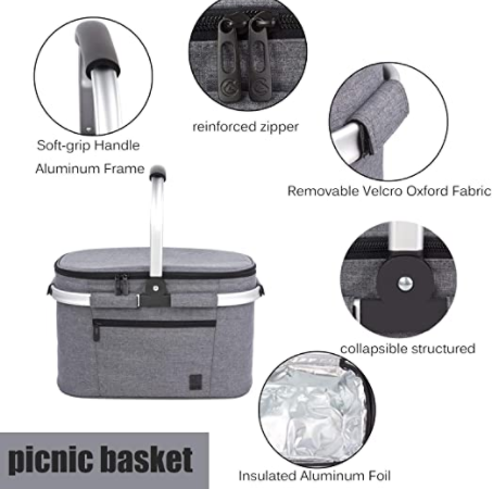 All Camp Collapsible Insulated Picnic Bag