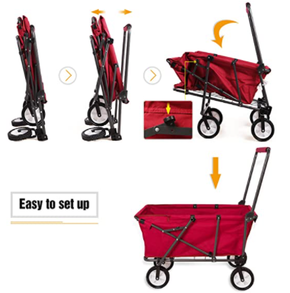 RedCamp Collapsible Beach Wagon Cart